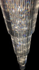Large Chandelier Dressed with 110cm BAGUETTE Shaped Crystals