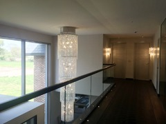 Custom Crystal Chandelier-Winch inside Ceiling Rose Cover