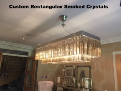 Custom Rectangular Smoked Crystals, Can Be Customise to any size